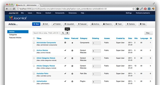 Kyle Ledbetter's suggestion for the Joomla admin interface based on Twitter Bootstrap
