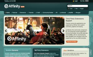 Affinity RocketTheme template july 2009