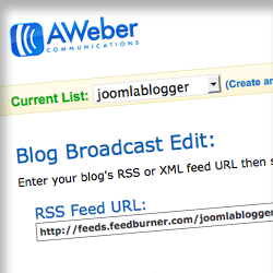 Aweber and Joomla works together