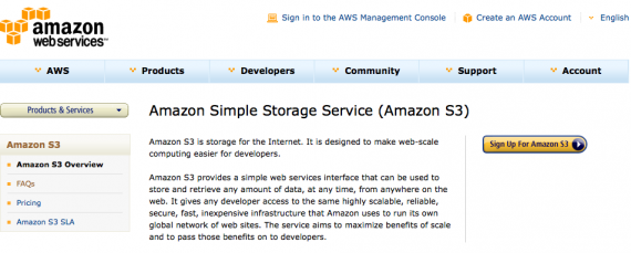 Amazon s3 signup