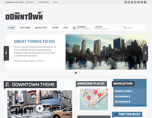 YooTheme Downtown Joomla template