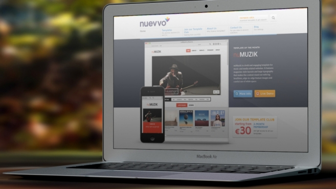 Nuevvo relaunches as Joomla template club