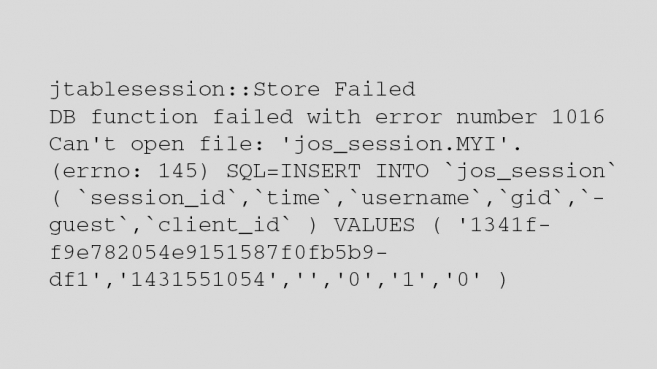 How to Solve a Problem with jos_session